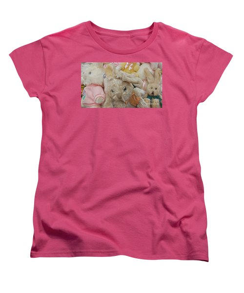 Women's T-Shirt (Standard Cut) featuring the photograph Easter Bunnies by Benanne Stiens