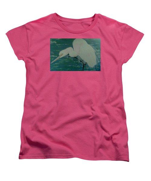 Egret Women's T-Shirt (Standard Cut) by Judi Goodwin