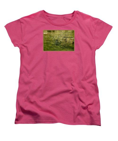 Einstein Mysterious Women's T-Shirt (Standard Cut) by David Norman