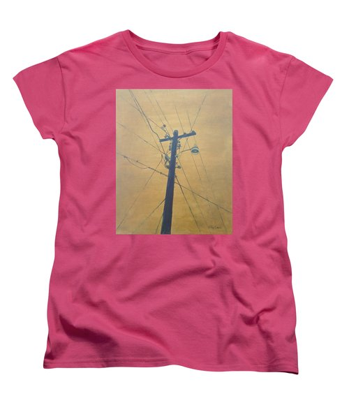 Electrified Women's T-Shirt (Standard Cut) by T Fry-Green