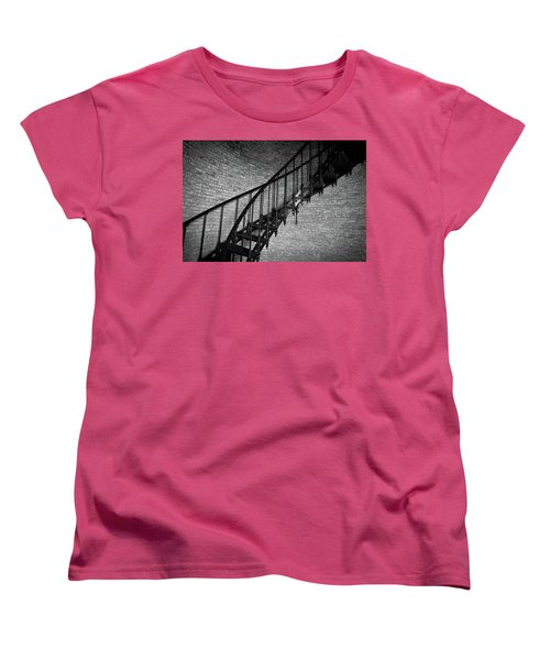 Enchanted Staircase II - Currituck Lighthouse Women's T-Shirt (Standard Cut) by David Sutton