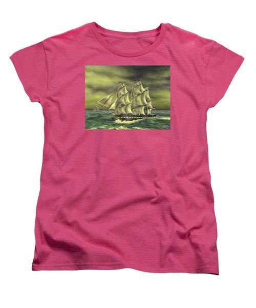 Ensuring Liberty Women's T-Shirt (Standard Cut) by Dave Luebbert