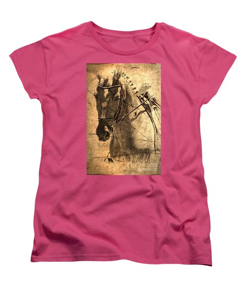 Equestrian Women's T-Shirt (Standard Cut) by Clare Bevan