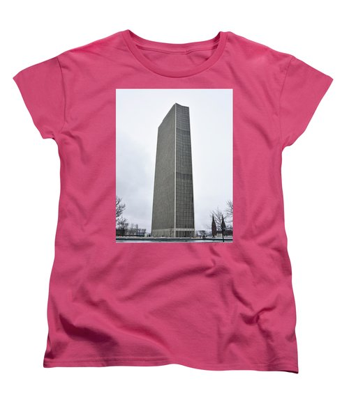 Erastus Corning Tower In Albany New York Women's T-Shirt (Standard Cut) by Brendan Reals
