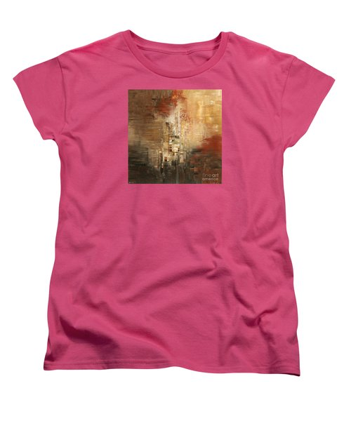 Women's T-Shirt (Standard Cut) featuring the painting Essential Connection by Tatiana Iliina