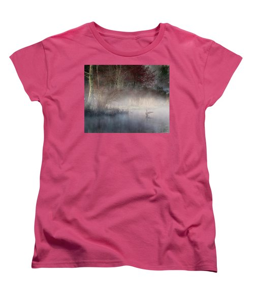 Women's T-Shirt (Standard Cut) featuring the photograph Ethereal Goose by Bill Wakeley