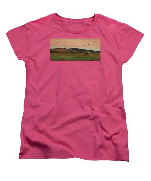 Eurasian Woodcocks Women's T-Shirt (Standard Cut) by Bruno Liljefors