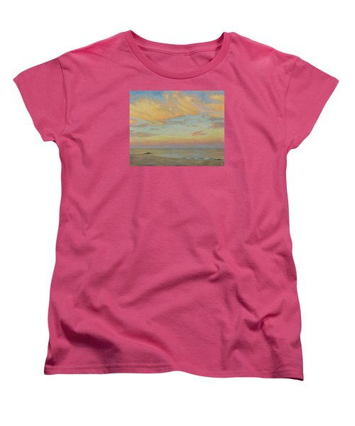 Women's T-Shirt (Standard Cut) featuring the painting Evening by Joe Bergholm