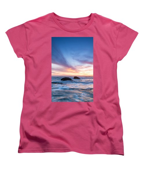 Evening Waves Women's T-Shirt (Standard Cut) by Catherine Lau
