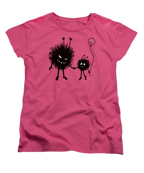 Evil Bug Mother And Child Women's T-Shirt (Standard Cut)