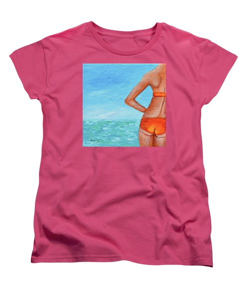 Exhale Softly Women's T-Shirt (Standard Cut) by Donna Blackhall