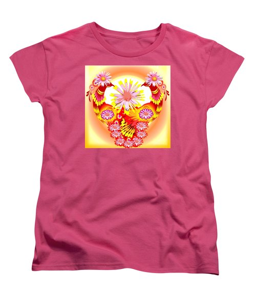 Exotic Peacocks Women's T-Shirt (Standard Cut) by Belinda Threeths