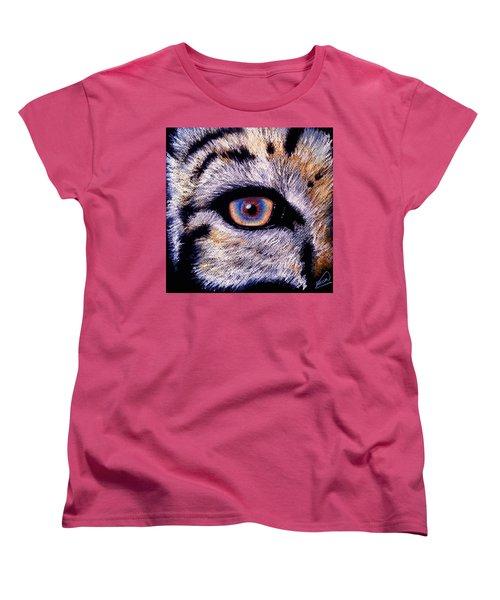 Eye Of A Tiger Women's T-Shirt (Standard Cut) by Alban Dizdari