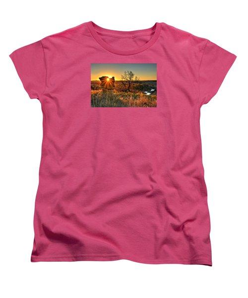 Eye Of The Monolith Women's T-Shirt (Standard Cut) by Fiskr Larsen