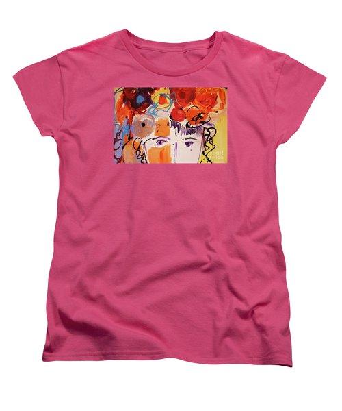Eyes And Flowers Women's T-Shirt (Standard Cut)