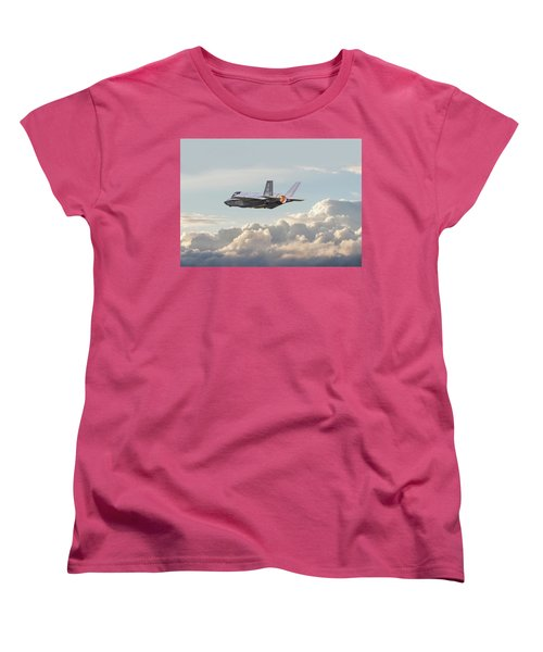 Women's T-Shirt (Standard Cut) featuring the photograph F35 -  Into The Future by Pat Speirs