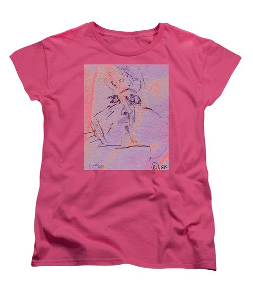 Women's T-Shirt (Standard Cut) featuring the mixed media Faces Of Trivia by Steve Karol