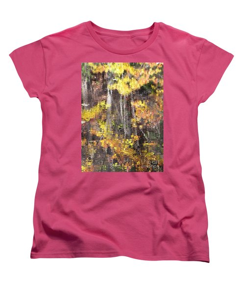 Fading Fall Water Women's T-Shirt (Standard Cut) by Melissa Stoudt