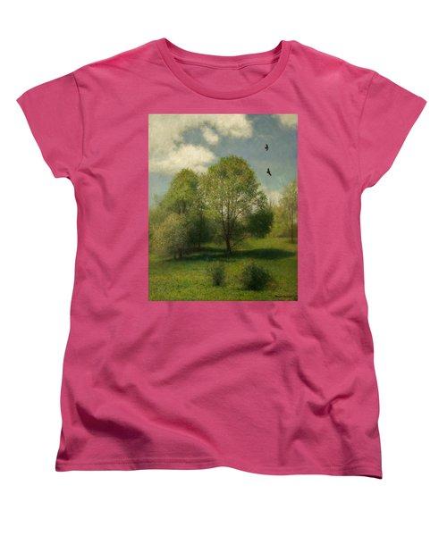 Women's T-Shirt (Standard Cut) featuring the painting Fairchild Hill by Wayne Daniels