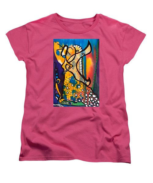 Women's T-Shirt (Standard Cut) featuring the painting Fairy Queen - Art By Dora Hathazi Mendes by Dora Hathazi Mendes