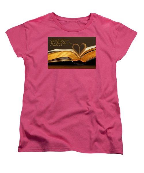 Faith. Hope. Love. Women's T-Shirt (Standard Cut) by Iryna Goodall