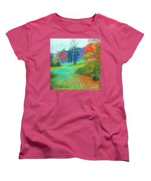 Fall Across The Field  Women's T-Shirt (Standard Cut) by Rae  Smith PAC