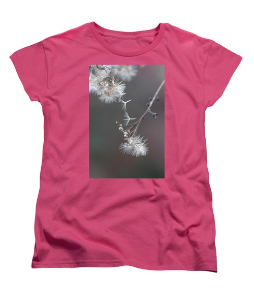 Women's T-Shirt (Standard Cut) featuring the photograph Fall - Macro by Jeff Burgess