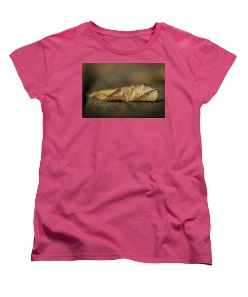 Fallen Leaf Women's T-Shirt (Standard Cut) by Hyuntae Kim