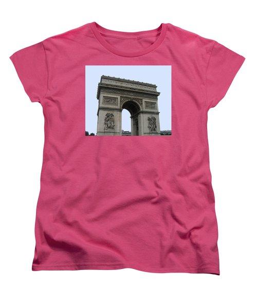 Famous Gate Of Paris - Arc De France Women's T-Shirt (Standard Cut) by Suhas Tavkar