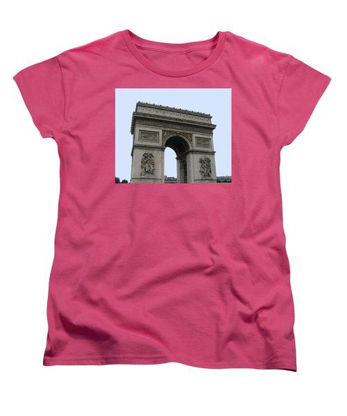 Famous Gate Of Paris - Arc De France Women's T-Shirt (Standard Cut)