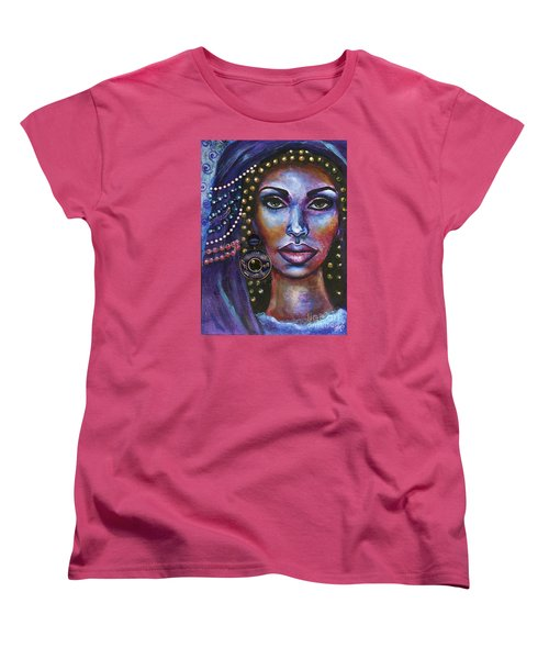 Women's T-Shirt (Standard Cut) featuring the painting Fantasy by Alga Washington
