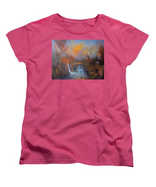 Farewell To Rivendell The Passing Of The Elves Women's T-Shirt (Standard Cut) by Joe  Gilronan