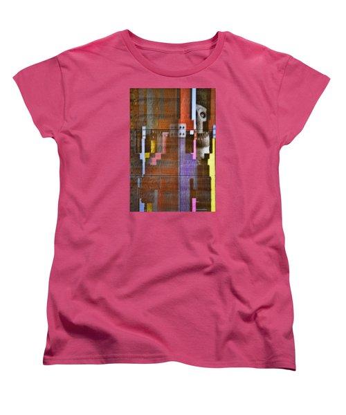 Women's T-Shirt (Standard Cut) featuring the photograph Fearful Reflections San Francisco by Steve Siri