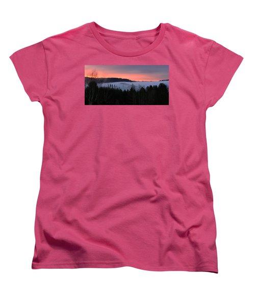 Women's T-Shirt (Standard Cut) featuring the photograph February Oregon Sunrise by Katie Wing Vigil