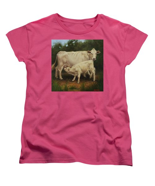 Feeding In The Forest Women's T-Shirt (Standard Cut)