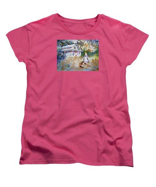 Feeding Time Women's T-Shirt (Standard Cut) by Mary Haley-Rocks