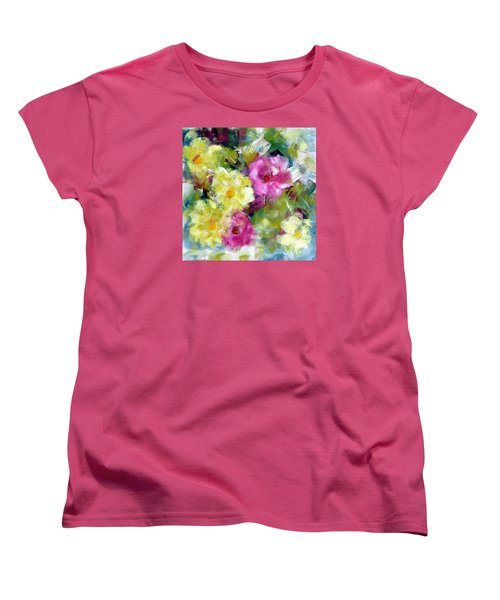 Women's T-Shirt (Standard Cut) featuring the painting Felicidades by Katie Black