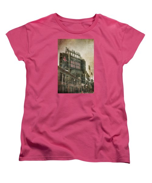 Fenway Park Billboard - Boston Red Sox Women's T-Shirt (Standard Cut) by Joann Vitali