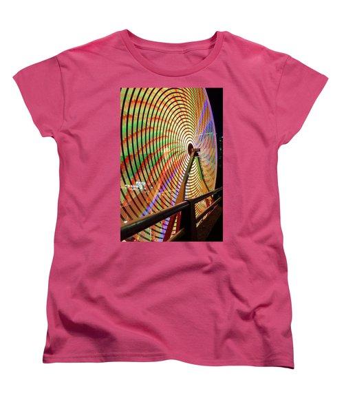 Ferris Wheel  Closeup Night Long Exposure Women's T-Shirt (Standard Fit)