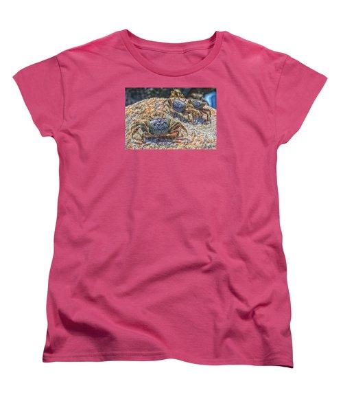 Women's T-Shirt (Standard Cut) featuring the photograph Fiddler Crabs by Constantine Gregory