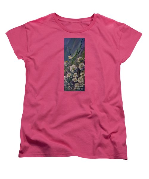 Fields Of White Flowers Women's T-Shirt (Standard Cut)