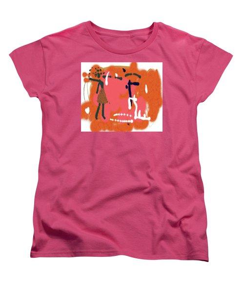 Women's T-Shirt (Standard Cut) featuring the digital art Fight by Sladjana Lazarevic