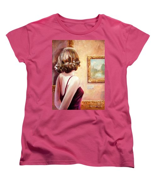 Fine Art Gallery Opening Night Women's T-Shirt (Standard Cut) by Michael Rock