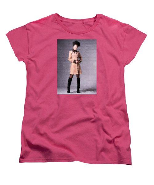 Women's T-Shirt (Standard Cut) featuring the digital art Fiona by Nancy Levan
