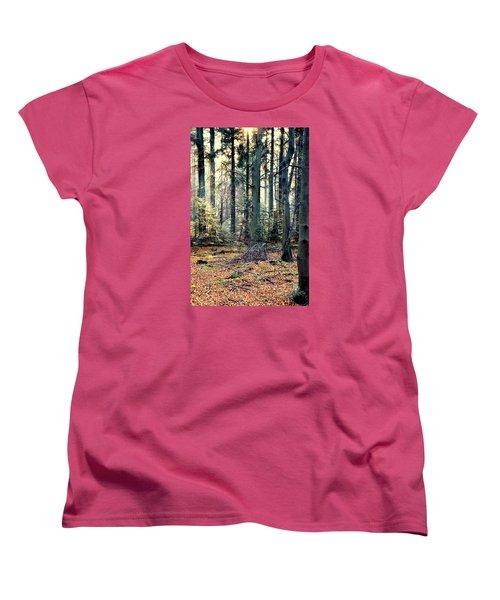 Fir Forest-2 Women's T-Shirt (Standard Cut) by Henryk Gorecki