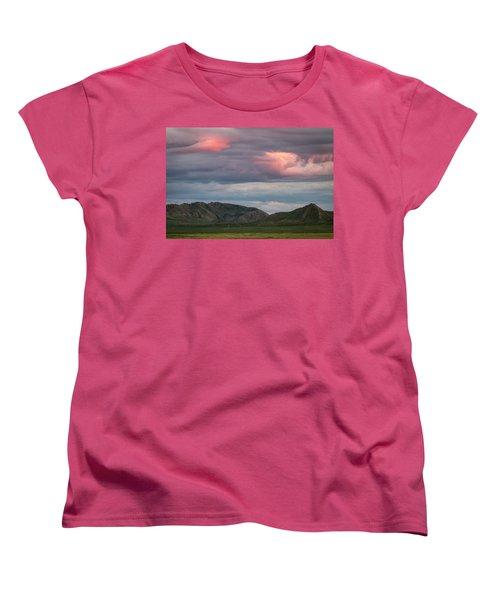 Glow In Clouds Women's T-Shirt (Standard Cut) by Hitendra SINKAR