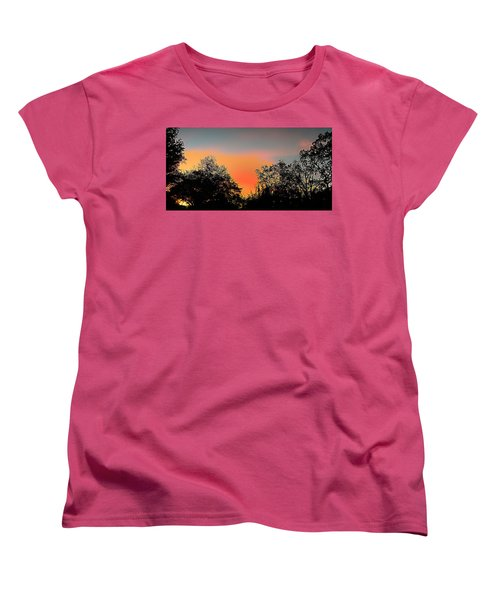 Women's T-Shirt (Standard Cut) featuring the painting Firefly by Steve Sperry