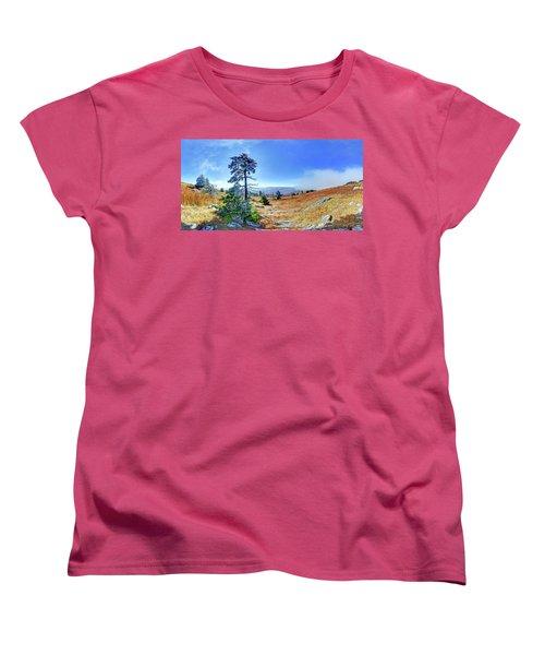Women's T-Shirt (Standard Cut) featuring the photograph First Light Snow by George Randy Bass