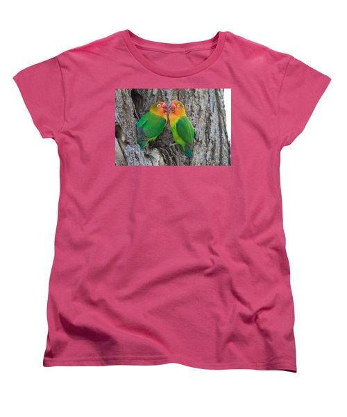 Fischers Lovebird Agapornis Fischeri Women's T-Shirt (Standard Cut) by Panoramic Images