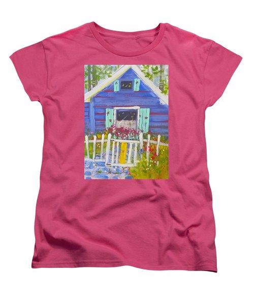 Fish Camp Cottage Women's T-Shirt (Standard Cut)